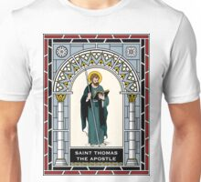 ST THOMAS THE APOSTLE under STAINED GLASS Unisex T-Shirt