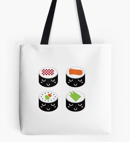 Sushi collection isolated on white Tote Bag