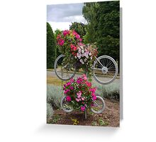 Bicycles made for FOUR Greeting Card