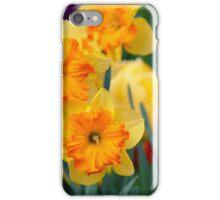 Pair of yellow/orange Daffodil iPhone Case/Skin