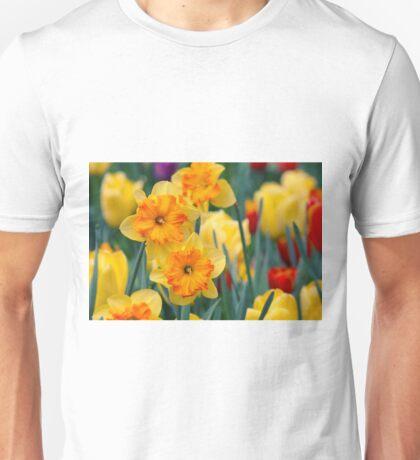 Pair of yellow/orange Daffodil Unisex T-Shirt