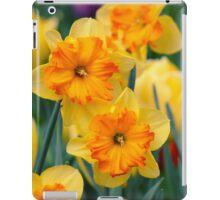 Pair of yellow/orange Daffodil iPad Case/Skin