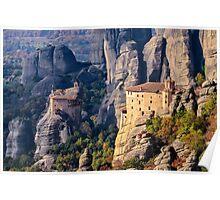 Meteora monasteries Poster