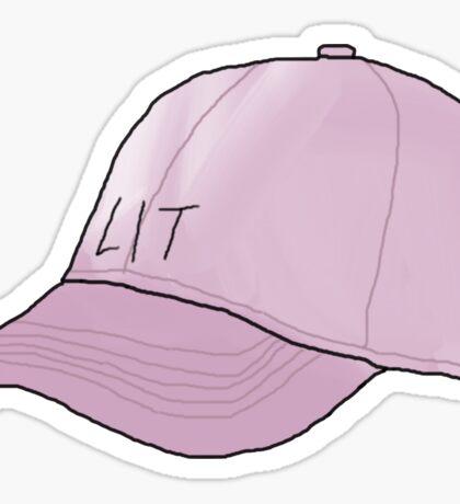 Lit Cap Sticker