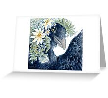 Crow Selfie Greeting Card
