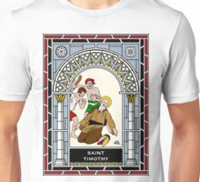 ST TIMOTHY under STAINED GLASS Unisex T-Shirt