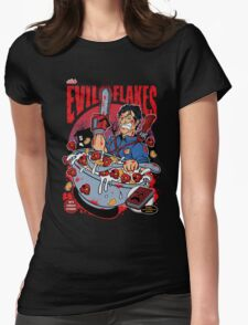 EVIL FLAKES Womens Fitted T-Shirt