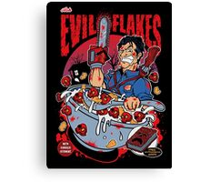 EVIL FLAKES Canvas Print