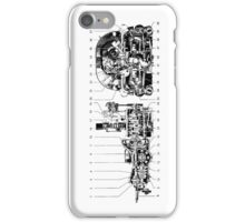 Car synchromesh (4 speed) gearbox drawing.... iPhone Case/Skin