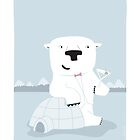 """Snowy Bear the Suave Polar Bear - """"Up North"""" series 2 of 3 by JEREMIAHJAMES"""