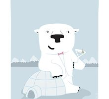 "Snowy Bear the Suave Polar Bear - ""Up North"" series 2 of 3 by JEREMIAHJAMES"