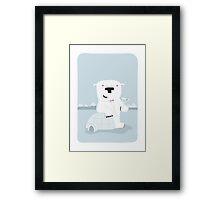 "Snowy Bear the Suave Polar Bear - ""Up North"" series 2 of 3 Framed Print"