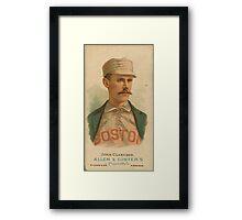 John Clarkson - Boston Beaneaters - Vintage Baseball Card Framed Print