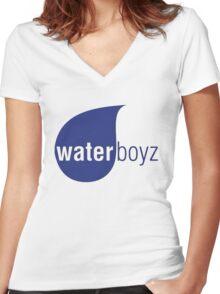 Waterboyz logo chris travis Women's Fitted V-Neck T-Shirt