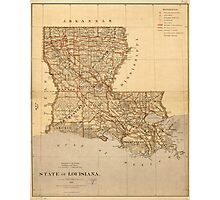Map of the State of Louisiana (1876) Photographic Print