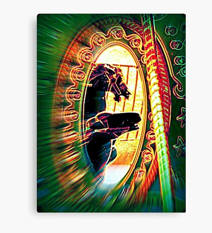 Horseys Through The Looking Glass Canvas Print