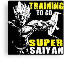 Training To Go Super Saiyan (Goku Hardcore Squat) Canvas Print