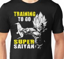 Training To Go Super Saiyan (Vegeta Hardcore Squat) Unisex T-Shirt
