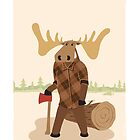 """Timothy McGilicutty the Lumberjack Moose - """"Up North"""" series 3 of 3 by JEREMIAHJAMES"""