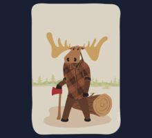 "Timothy McGilicutty the Lumberjack Moose - ""Up North"" series 3 of 3 Kids Tee"