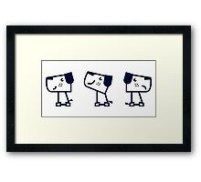 Cute dog collection Gifts. Black and White minimalist edition. Framed Print