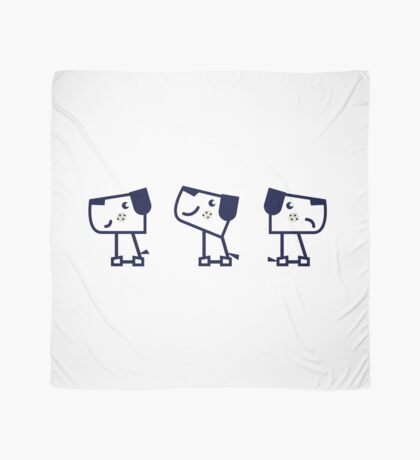 Cute dog collection Gifts. Black and White minimalist edition. Scarf