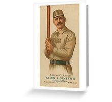 "Adrian ""Cap"" Anson - Chicago White Stockings - Vintage Baseball Card Greeting Card"
