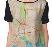 Watercolor map of The Bronx Chiffon Top
