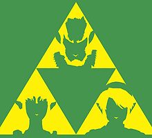 The Legend of Zelda - The three sides of the Triforce by AronGilli by AronGilli