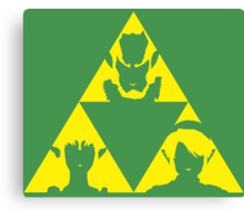 The Legend of Zelda - The three sides of the Triforce by AronGilli Canvas Print