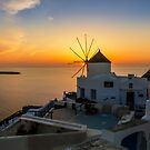 Sunset in Santorini by george papapostolou