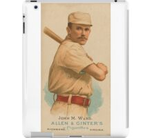 John M Ward - New York Giants - Vintage Baseball Card iPad Case/Skin