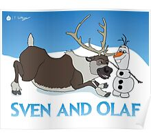 Sven and Olaf Poster
