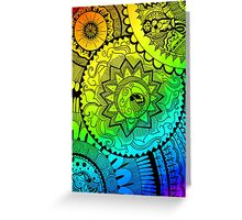 Coloured Zentangle Greeting Card