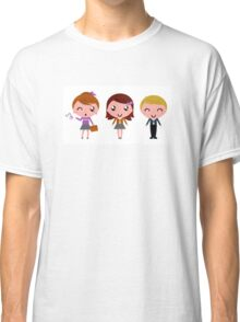 Cute school children. Just perfect illustrated Gift. Classic T-Shirt