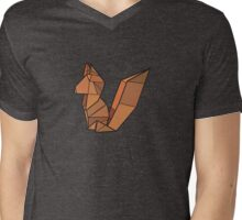 Origami Fox Mens V-Neck T-Shirt
