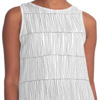 Wavy Lines White Contrast Tank