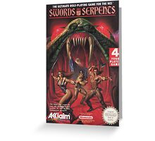 Swords and Serpents Greeting Card