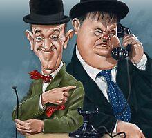 Laurel & Hardy by arievanderwyst