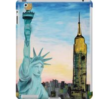 Statue Of Liberty With View Of New York iPad Case/Skin