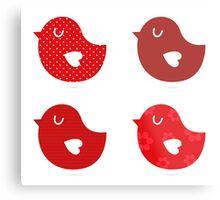 Retro birds collection / beautiful and cute birds Metal Print