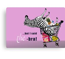 shopping with braces Canvas Print