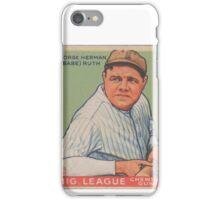 Babe Ruth - Vintage Baseball Card iPhone Case/Skin