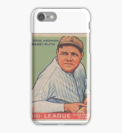 Babe Ruth - Vintage Baseball Card iPhone Case/Skin