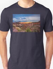 Sunset Burning Ridge Colorado National Monument  Unisex T-Shirt
