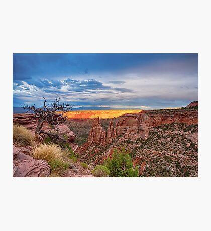 Sunset Burning Ridge Colorado National Monument  Photographic Print