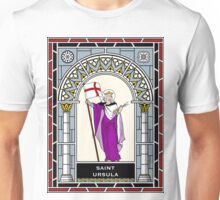 ST URSULA under STAINED GLASS Unisex T-Shirt
