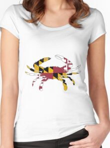MD Crab Women's Fitted Scoop T-Shirt