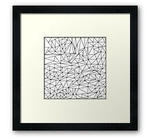 black and white geometric pattern Framed Print
