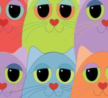 CAT CROWD Sticker